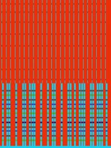 Red Signal, 2018, 200 x 150 cm,  acrylic on canvas